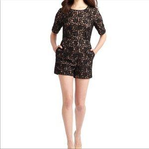 BCBG Max Azria Haile Black Lace Romper for sale